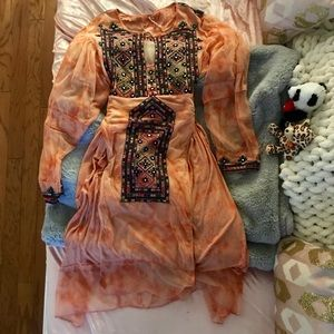 Gorgeous Free people embroidered dress